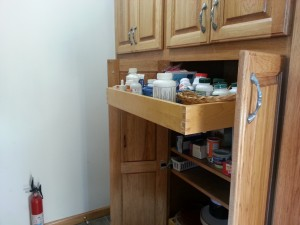 Pantry with pull-out