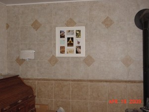 Installation of tile wall