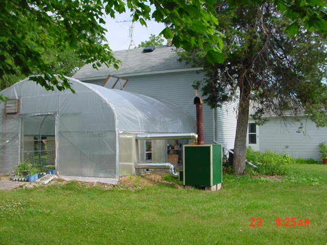 Greenhouse attached to house - South side